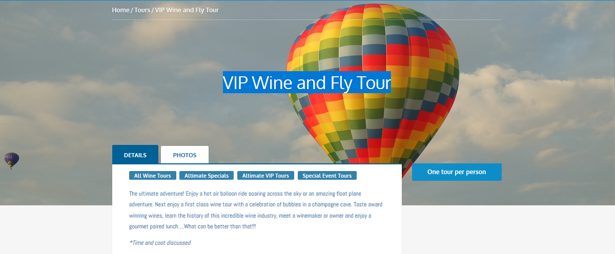 VIP Wine and Fly Tour